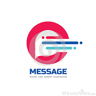 Free Message - Vector Logo Template Concept Illustration. Speech Bubble Creative Sign. Internet Chat Icon. Abstract Geometric Design. Royalty Free Stock Images - 90038129
