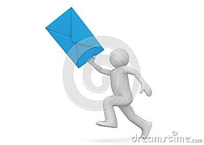Messenger - human with blue envelope