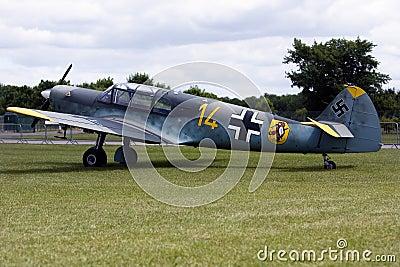 A Messerschmitt Bf 108 aircraft.