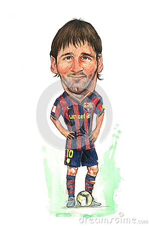 Free Messi Caricature Royalty Free Stock Photos - 25591328