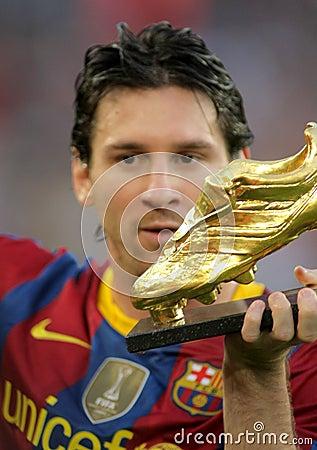 Messi leo της Βαρκελώνης fc Εκδοτική εικόνα