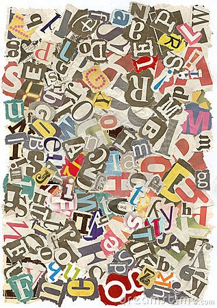 Messy alphabet texture