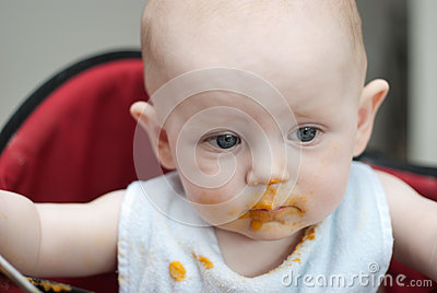 Messy Baby After Eating