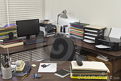 Messy Corner Office