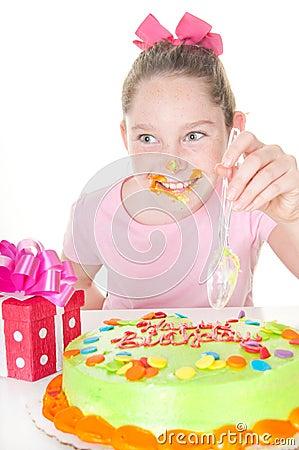 Messy icing on birthday