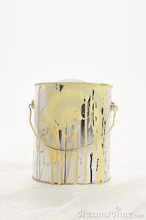 Messy paint can