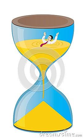 Metafoor voor het gebrek aan tijd
