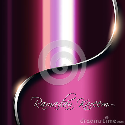 Metal background with ramadan kareem wishes