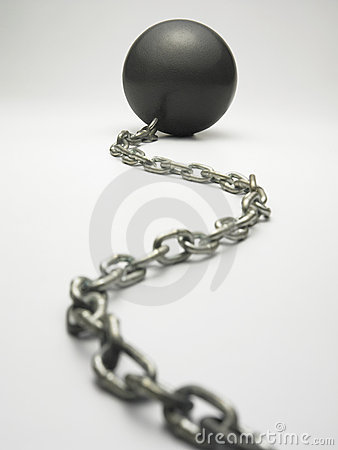 Metal ball with chain