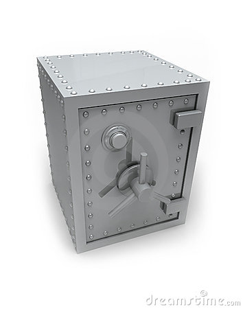 Metal bank safe
