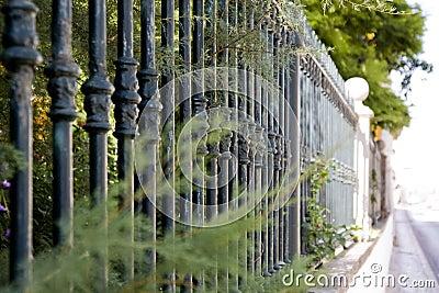 Metal bar fence