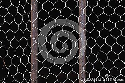 Metal bars and net