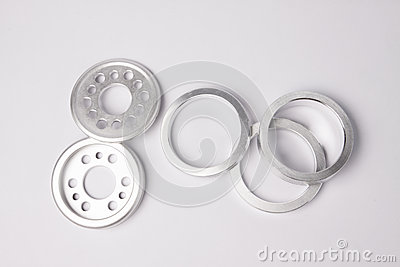 Metal bearing and other parts