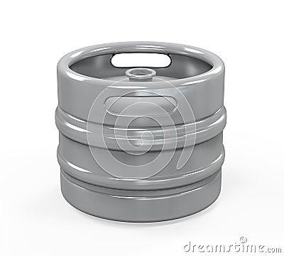 Metal Beer Keg Stock Photo