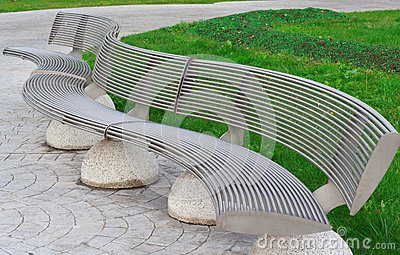 Metal bench in Istambul