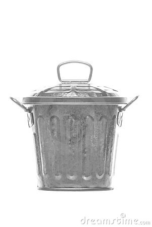 Metal Bin Isolated