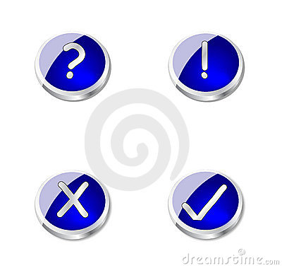 Metal blue buttons or icons