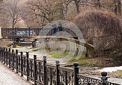 Metal  Bridge at Kislovodsk.