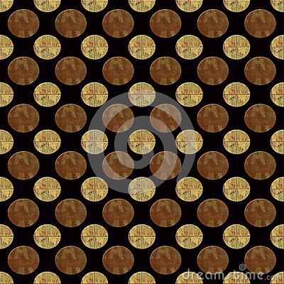 Metal Bronze and Gold Seamless Repeating Pattern