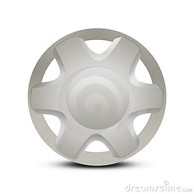 Free Metal Car Hubcap Or Wheel Trim Royalty Free Stock Photo - 7899205