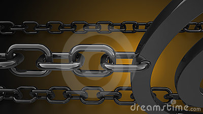 Metal chain background 3d render