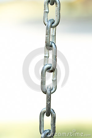 Metal chain detail