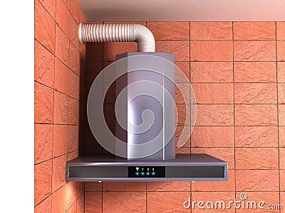 Metal cooker hood