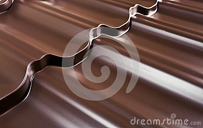 Metal covering for a roof