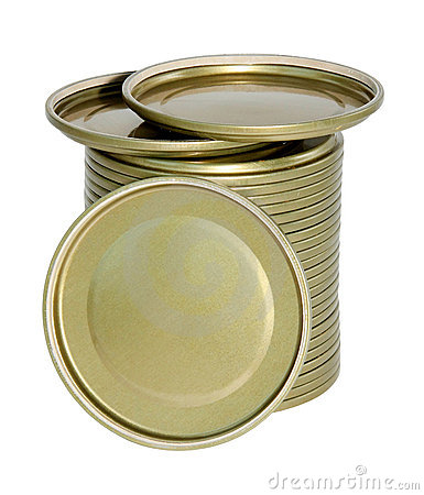 Metal covers for glass jars