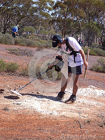 Metal detecting competition Editorial Stock Image