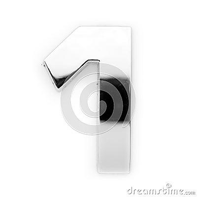 Metal digit - 1