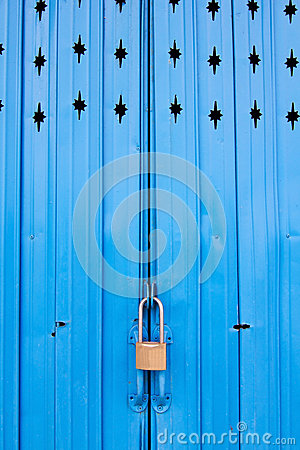 Metal door with lock