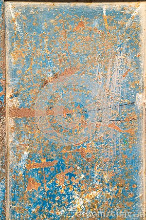 Free Metal Door With Rust, Crack And Old Loose Blue Paint Texture. Architect, Pieces. Royalty Free Stock Images - 111205739