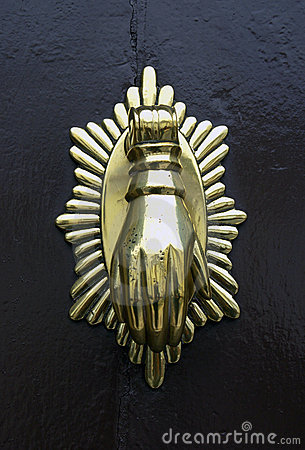Metal doorknob or knocker