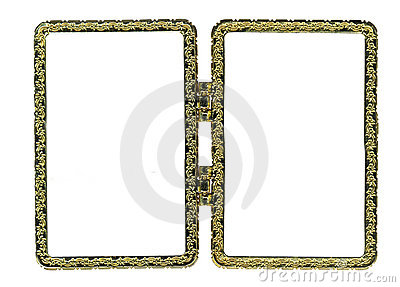 metal double frame royalty free stock images image 12394489