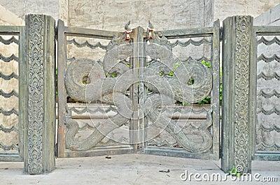 Metal dragon door
