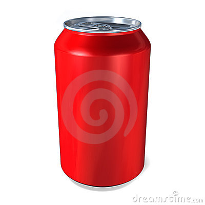 Metal Drinks Can In Red Royalty Free Stock Image Image
