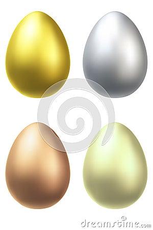 Metal eggs