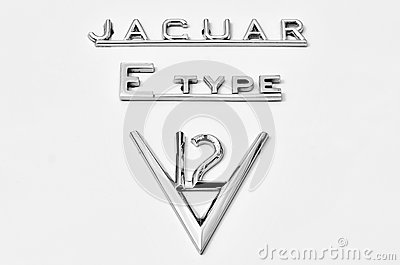 Metal emblem of an old Jaguar Editorial Image