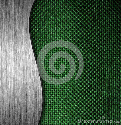 Metal and fabric material template background