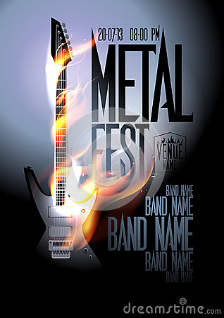 Free Metal Fest Design Template. Royalty Free Stock Photos - 38845628