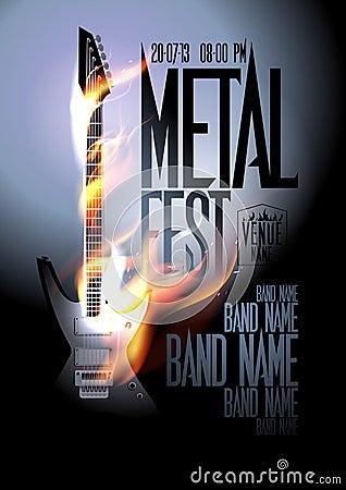 Free Metal Fest Design Template. Royalty Free Stock Photos - 38845628