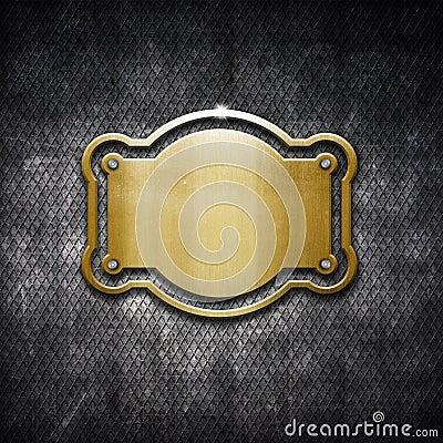 Metal frame on grunge background