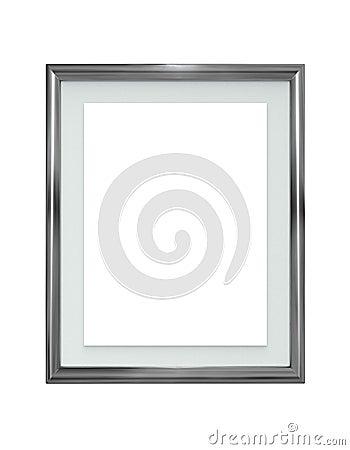 Free Metal Frame Isolated On White Stock Photos - 7042373
