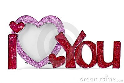 i love you frame stock images image 18693064