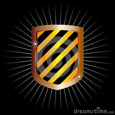 Metal frame shield (vector)