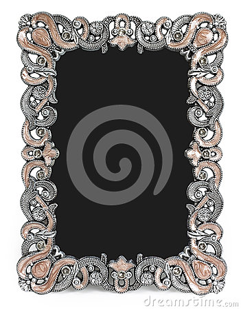 Free Metal Frame With Brown Enamel, Gems And Place For Royalty Free Stock Images - 51350169