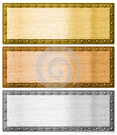Free Metal Frames Silver, Gold And Bronze With Clipping Path Stock Photography - 33897572