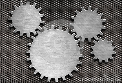 Metal gears and cogs background
