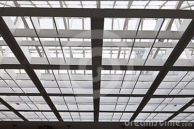 The metal and glass roof